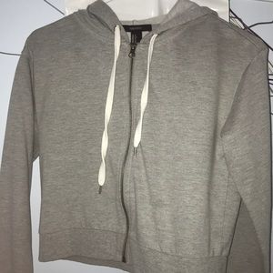 grey zip up
